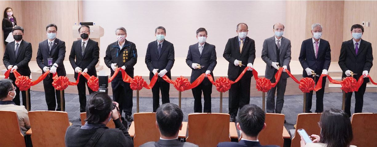 The Distinguished Guests from Companies and Government Join Ribbon Cutting Ceremony for the Grand Opening of Waferlock's New Smart Factory.